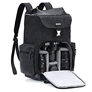 Best Epic Trends 41Q6LfhlHZL._SS300_ CADeN Camera Backpack Canvas Camera Bag for DSLR/SLR Mirrorless Camera with 14 inch Laptop Compartment, Camera Case…