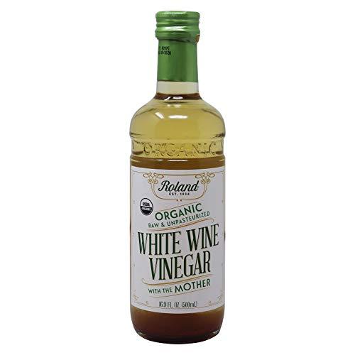 Roland Organic Raw & Unpasteurized White Wine Vinegar, 16.9 Fl Oz