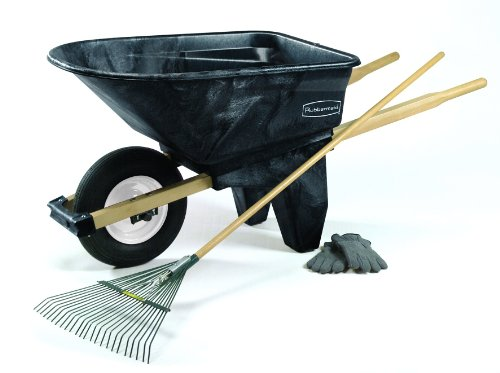 Rubbermaid Commercial FG565861BLA HDPE Wheelbarrow, 200-pound Capacity, Black by Rubbermaid Commercial Products