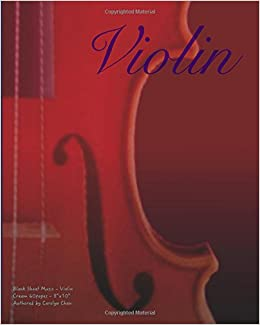 Amazon com: Blank Sheet Music - Violin: Music Manuscript