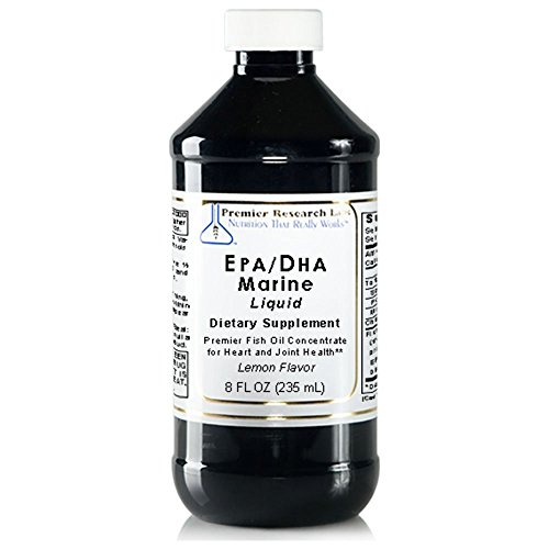 Premier Research Labs EPA/DHA Marine Liquid, 32 fl oz - Fish Oil Concentrate without molecular distillation. Promotes Heart & Joint Health with Lemon Flavor by Quantum / Premier Research