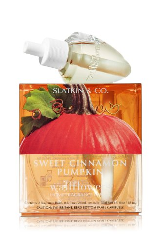 SWEET CINNAMON PUMPKIN WALLFLOWER Refills 2 Bulbs by Bath & Body Works