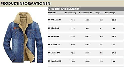 Giacche Stagionale Vintage Stare Autunno Gli Inverno Jeans Abbigliamento Caldo Spessa Di In Cashmere Classico Uomini Uomo Grau Finto Ntel Fodera E Più qwvAIIX
