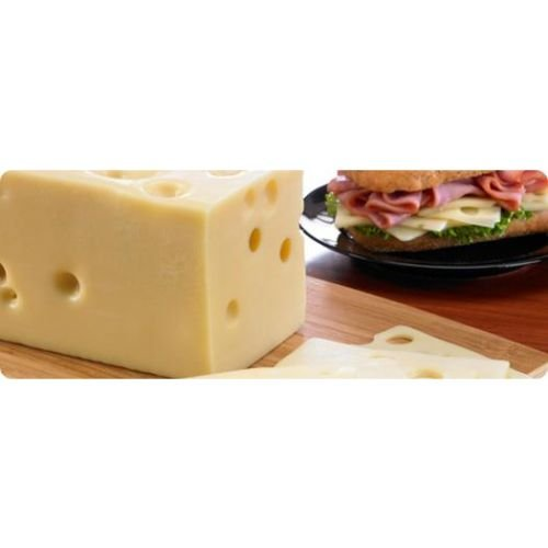 Swiss Valley Farms Grade A Swiss Cheese - Loaf Shape, 7 to 8 Pound - 2 per case.