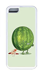 iPhone 5C Case, Personalized Custom Rubber TPU White Case for iphone 5C - Watermelon Cover
