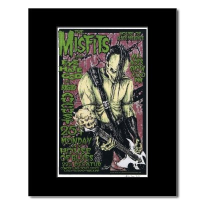 Music Ad World MISFITS - House of Blues New Orleans 1997 Mini Poster - 22.2x13.4cm