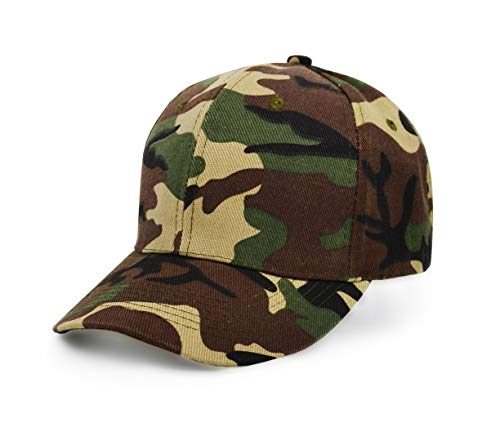 UltraKey Mens Army Military Camo Cap Baseball Casquette Camouflage Hats for Men Hunting (Green) ()