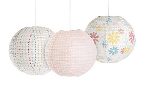 Kidsline Fanciful Floral Lanterns, 3 Count