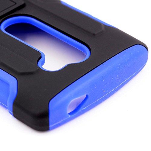 LG Spirit Lte case LG Escape 2 case LG C70 Case iWIRE® [UTMOST Protection] Blue Dual Layer Armor Holster Clip Case Cover for LG Spirit Lte C70 LG Escape 2 H443 + iWIRE® Touch Screen Pen