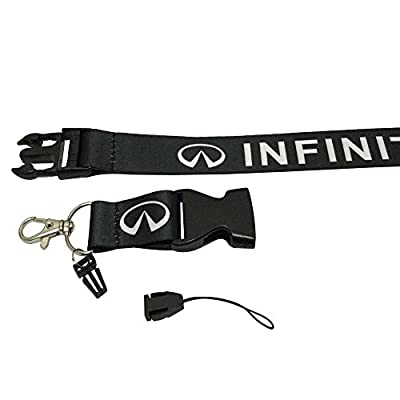 Coloryard 1pcs Black Color USA Ship New Quick Release Neck Strap Lanyard Keychain Keyring Car Keys House Keys ID Badges Card For Infiniti Design: Automotive