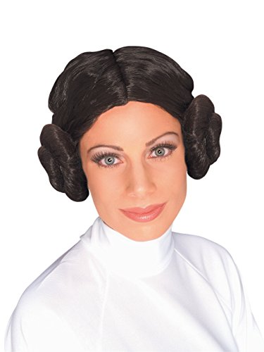 Star Wars Princess Leia Wig, Brown, One