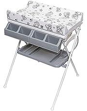 ib style® KOA commode met badkuip | mobiele commode | inklapbaar | 4 decors
