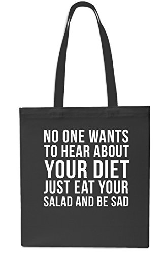 To Small one No Gym Diet Your Bag x38cm Wants Hear Black About Shopping Tote Beach Sapphire litres 10 42cm EaEwCqd