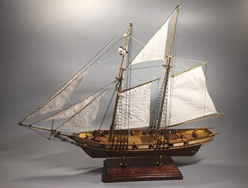 Scale 1/130 Laser-Cut Wooden Sailboat Model kit: The Harvey 1847 Ship Model