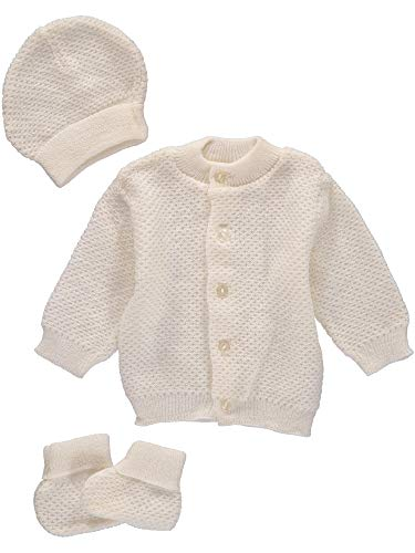 Baby Booty Set - 3 Piece Sweater, Hat and Booties (0-3M)