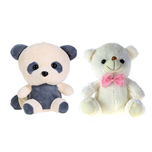 Teddy Bear Panda Doll Colorful Led Flash Light Plush Toys And Low Price Skin Holiday Gift Birthday Valentine