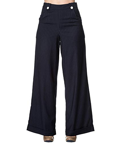 Dancing Days 40 Sweet Swing Larges Revenge Années Jambes Rayures Pantalon Style À Bleu 0O8knXNwP