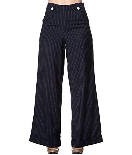 Pantalon Revenge Sweet 40 Années Swing Jambes Larges Bleu Style Dancing Rayures Days À qEFBxqOz