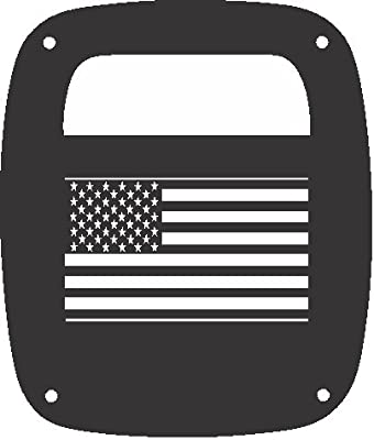 JeepTails USA Flag - Jeep TJ Wrangler Tail Lamp Covers - Set of 2