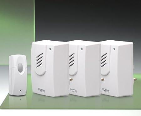 Byron DB302 Wireless Plug-In Door Chime Kit 30m