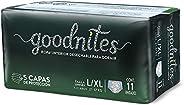 GoodNites Calzoncitos Desechables para Dormir, Talla Grande Unisex-Niño, Paquete con 11 piezas, Ideal para niñ