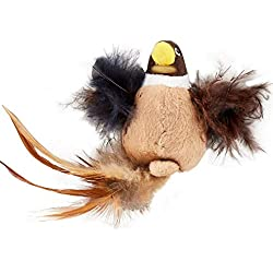 Hartz Just For Cats Chirp & Chase Interactive Plush Bird Catnip Cat Toy