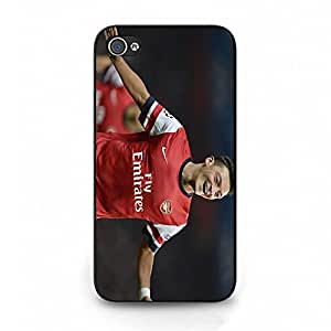 Smiling Mesut ?Zil Arsenal FC Phone Case Cover for Iphone 4 4s FC Arsenal Logo Fashion
