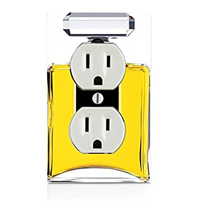 Perfume Bottle Image Design Print Pattern Electrical Outlet Plate: Home & Kitchen