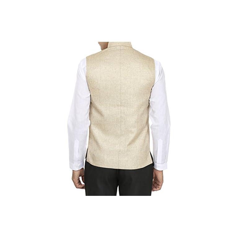 41Q6Psdqv1L. SS768  - WINTAGE Men's Rayon Bandhgala Festive Nehru Jacket Waistcoat - 2 Colors