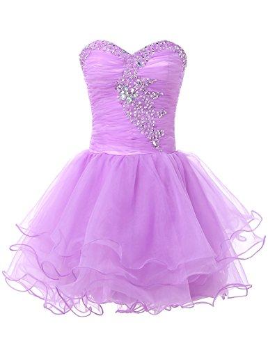 Plus Size Lilac Mini Quinceanera Dress Sweatheart Size 16 CL6077-4