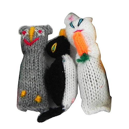 - Barn Yarn Hand Knit Wool Cat Toy with Catnip 3 Pack