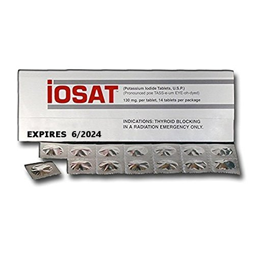 iOSAT Potassium Iodide Tablets, 130 mg (14 Tablets each) - Sept 2024 Expiration - 10 ()