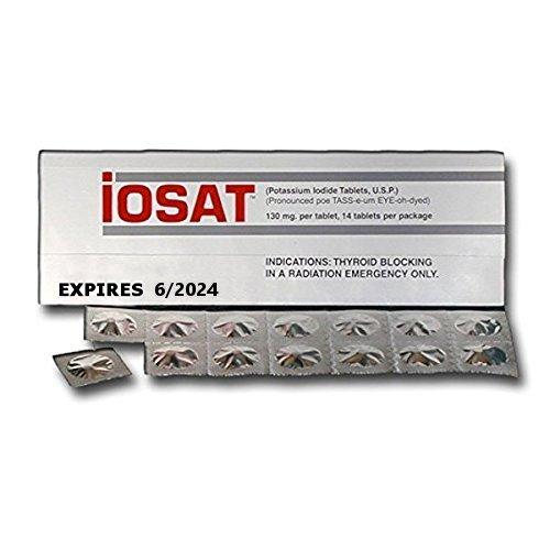 iOSAT Potassium Iodide Tablets, 130 mg (14
