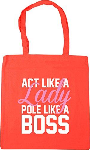 x38cm a Bag Pole 42cm Beach Gym litres Shopping Like Lady Coral Tote Like Act HippoWarehouse 10 Boss a Yq6wp11