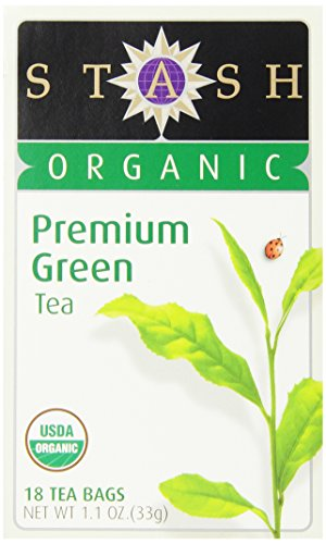 Stash Tea Organic Premium Green Tea, 18 Count Tea Bags in Foil (Pack of 6) (Sampler Tea Stash Organic)