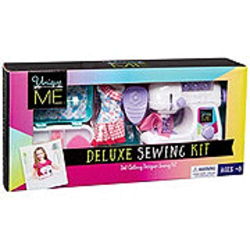 Unique Me Doll Clothing Designer Deluxe Sewing Set(Includes Sewing Box,Scissors,Thread Puller,Doll Dress Form,pin Cushion,Tape Measure Sewing Thread and Sewing Machine)