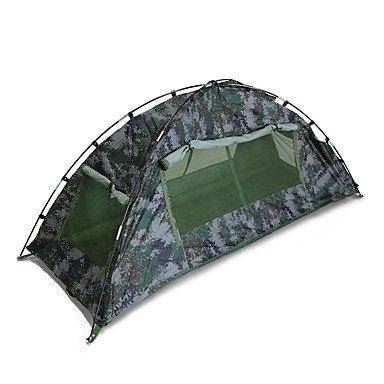 FHGJ 1 Person Zelt Camping Zelt Doppel Outdoor Klapp Staubdicht Camping Zelt Camping 1500-2000 mm Glasfaser Oxford