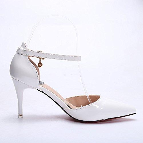 Toe High Pump Dethan Womens White Shoes Pointed Dress Heel q7qE6t