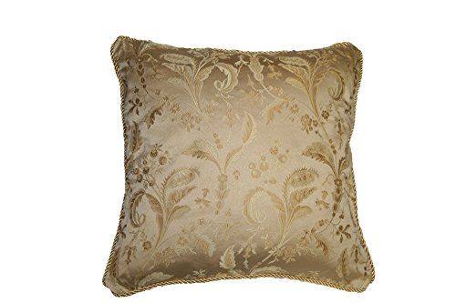 - Violet Linen LUXURY DMSK-C Luxury Damask Decorative Throw Pillow, 18