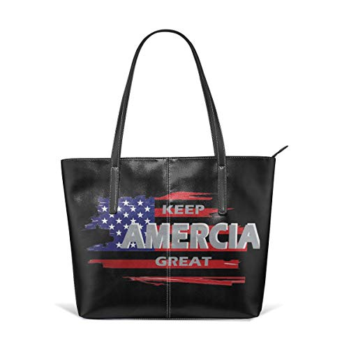 Utility Keep America Great Leather Handbag Tote Bag For Women's