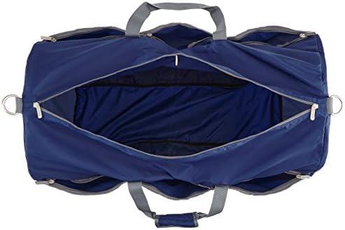 AmazonBasics Large Travel Luggage Duffel Bag - Navy Blue