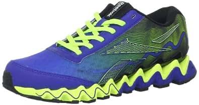 Reebok Women's Zig Ultra Running Shoe,Blue Move/Neon Yellow/Black,9 M US