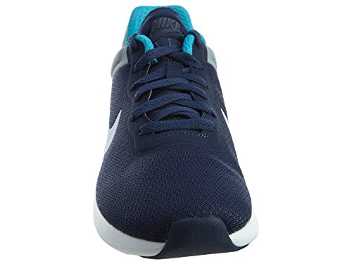 Nike Heren Air Max Moderne Mesh Trainers Midnight Marine / Wit-stlth-blauw Lgn Aqua Rood