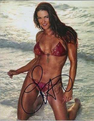 Lita (Pro Wrestler-Bikini!)Autographed 8X10 Color Photo