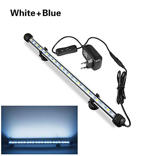 Fountain Boats Speed (AIMENGTE LED Fish Tank Light Tube,LED Aquarium Lights Fully Submerged, 7.4 inch/11.4 inch/15.3 inch/19 inch IP68 Waterproof Underwater Light Bar LED Plant Grow Lights. (15.3 inch/21 LEDs, White+Blue))
