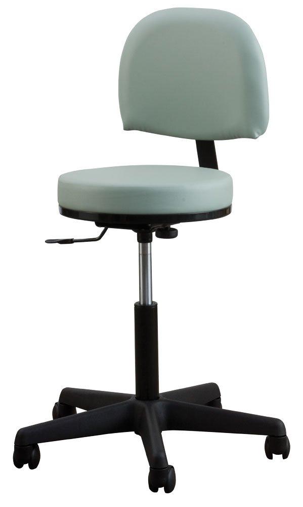 Oakworks 60397-T17 Premium Stool with Backrest High Height Range, Sapphire Upholstery by Oakworks