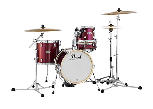 Pearl Midtown MDT764P/C704 4 Piece Drum Shell Pack, Black Cherry Glitter