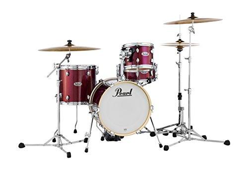 - Pearl Midtown MDT764P/C704 4 Piece Drum Shell Pack, Black Cherry Glitter