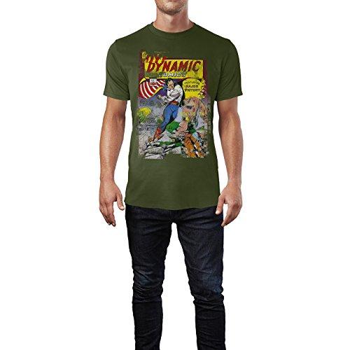 SINUS ART® Dynamic Comics Herren T-Shirts Armee grünes Cooles Fun Shirt mit tollen Aufdruck