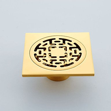 YLHM Faucet accessory-Superior Quality-Contemporary Brass Floor Drain-Finish - Antique Bronze.